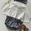 """Thumbnail: Bloomer bébé/fille coton/taille froncée   """" Vichy noir&blanc"""""""