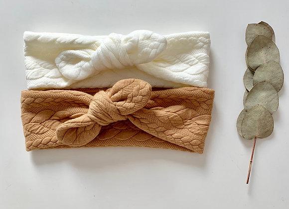 """Bandeau /chouchou torsadé""""Effet tricot """"(couleur au choix)"""