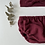 """Thumbnail: Bloomer bébé Gaze de coton """"Bordeaux"""""""