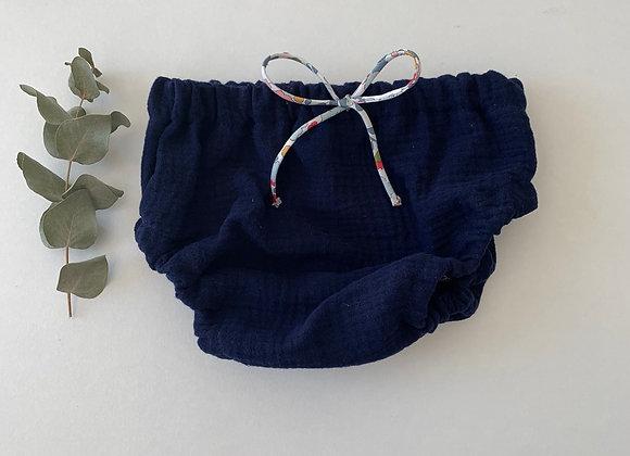 "Bloomer bébé/fille Gaze de coton   ""Bleu marine """
