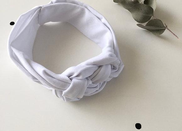 """Bandeau/headband tressé """"Blanc"""""""