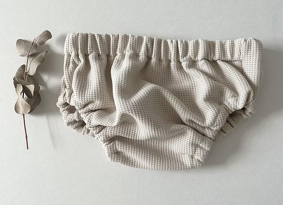 Bloomer bébé jersey gaufré «Beige clair»