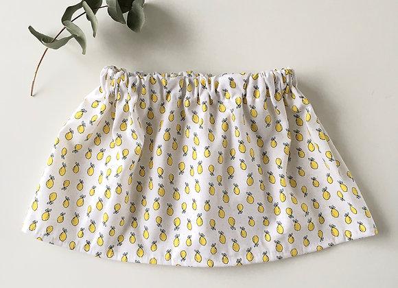 """Jupe bébé/fille noeud """"Citrons"""""""