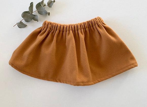 """Jupe bébé/fille  drap de laine  """"Moutarde"""""""