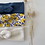 """Thumbnail: Bandeau/chouchou  bébé/fille/femme """"Lemon blue"""""""