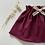 """Thumbnail: Jupe bébé/fille froncée jersey  """"Bordeaux"""""""