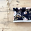 """Thumbnail: Tour de cou / snood polaire gaze de coton bio """"Aquarelle noire"""""""