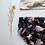 """Thumbnail: Bloomer bébé/fille Gaze de coton biologique  """"Aquarelle noire"""""""