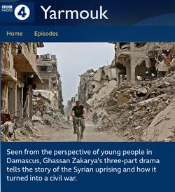 "BBC Radio 4 drama: ""Yarmouk"", July 2020"