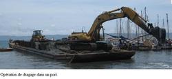 Dragage d'un port