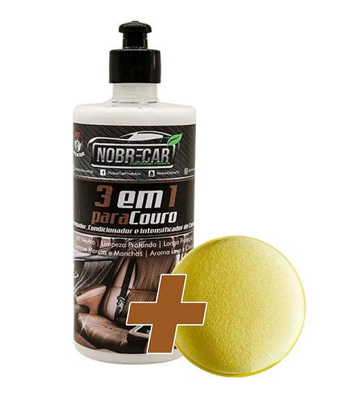 3 EM 1 PARA COURO NOBRECAR 500ML (Limpa,  Hidrata e Condiciona)