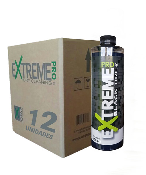 KIT BLACK TIRE PRETINHO (Caixa c/12 Black Tire 500ML)
