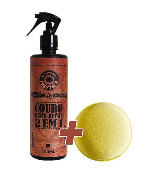 Limpa e Hidrata Couro Quick Detail 500ML + Aplicador
