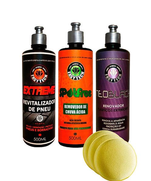 COMBO COM 3 PRODUTOS EASYTECH (Pneu - Vidro - Plástico)