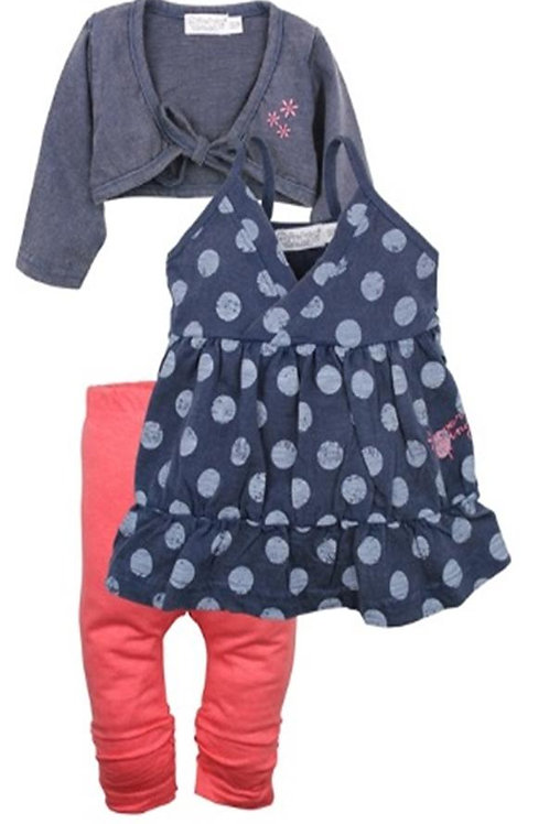 W24081:3 pce babysuit dress