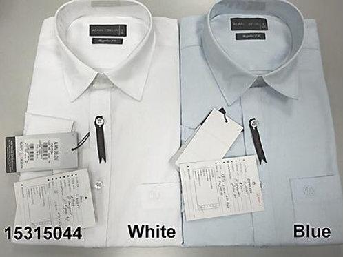 Men shirt - White-Blue