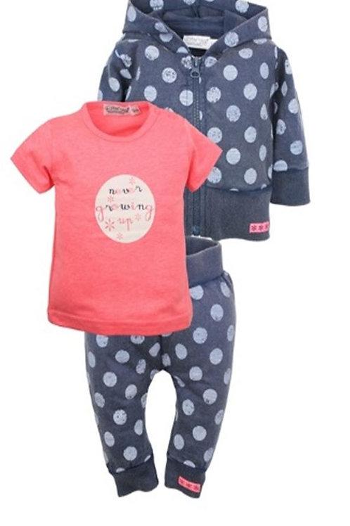 W24080: 3 pce babysuit