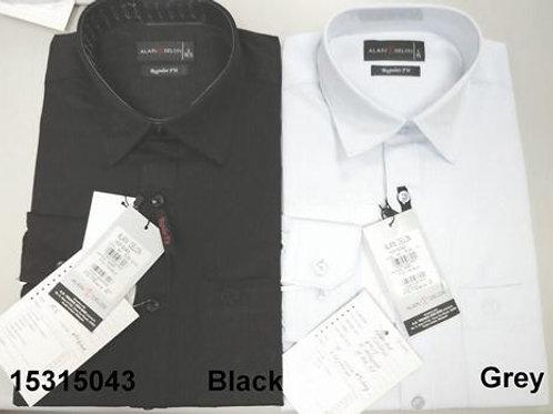 Men shirt - Black-Grey