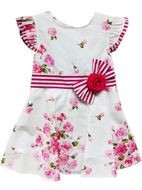 Dress - White/Rose