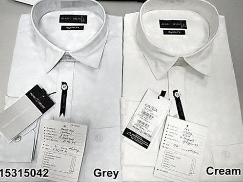Men shirt - Grey-Cream