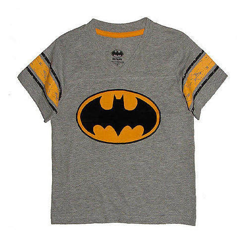 K-11293 BATMAN GREY MELANGE V-NECK