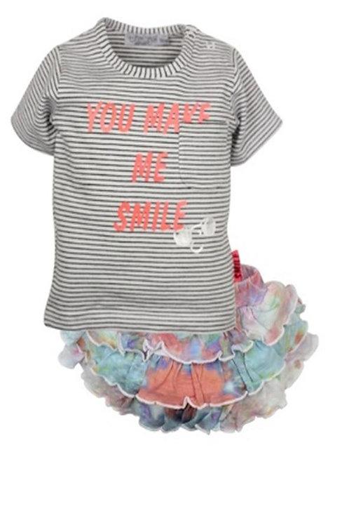 W24125 : 2 pce babysuit skirt