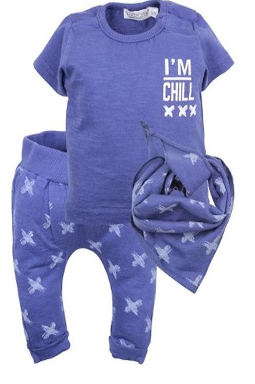 W24108H1: 2 pce babysuit + scarf