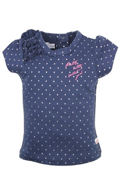 W24235:Baby t-shirt silver dots