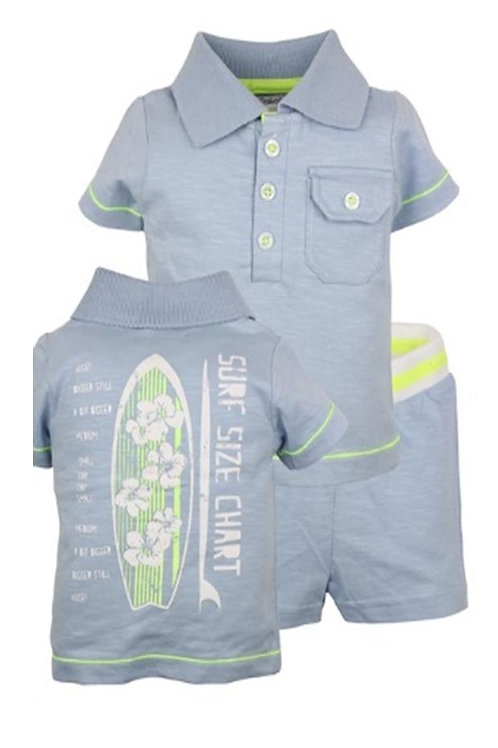 W24037:2 pce babysuit polo