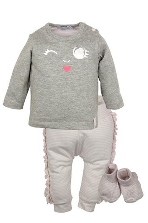 W24008 : 2 pce babysuit + booties