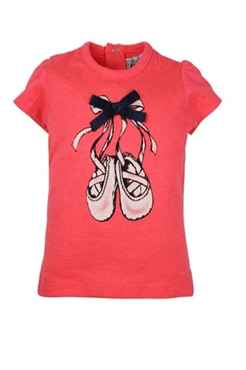 W24245:Baby shirt ballet shoes