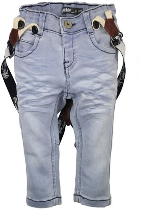 W24541:Jeans with suspenders