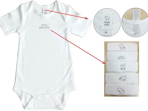 BABY BODYSUIT 5 PIECE PACK