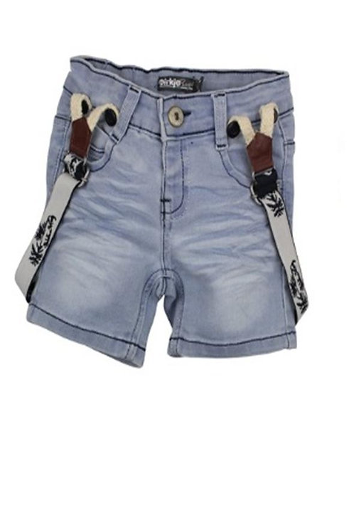 W24540: Jeans shorts with suspenders