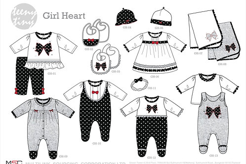 Winter Girl Heart Collection