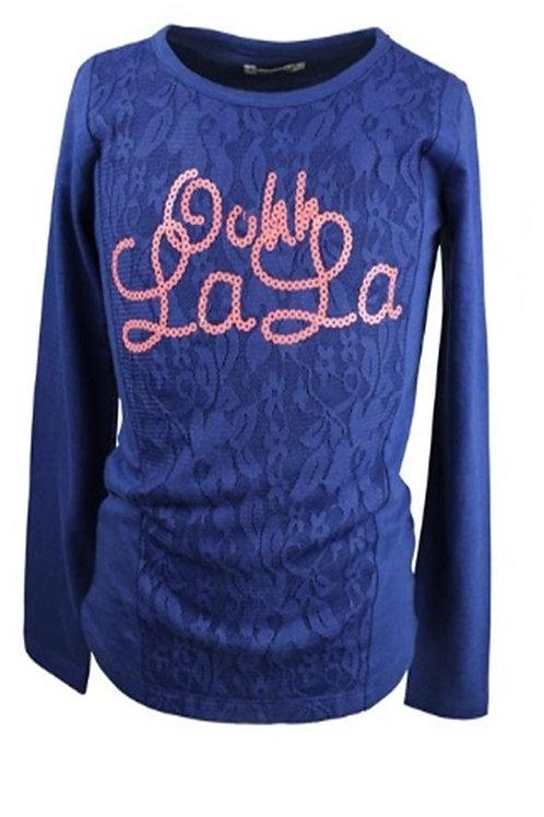 W24623:T shirt l.s sequins