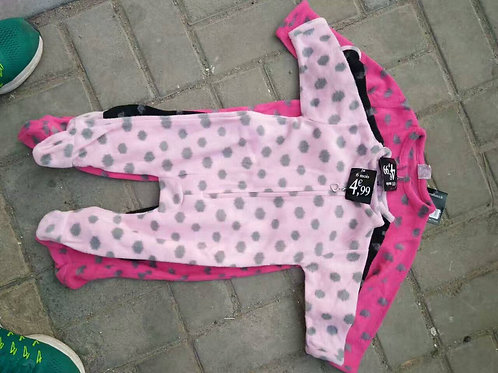 GEL-6792(QIUJINQD) MISS INFANT'S 100% POLYESTER PRINTED ROMPER WITH FOOTS