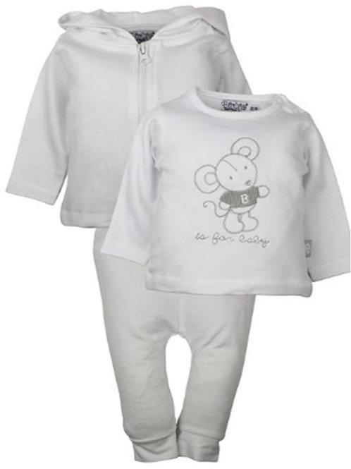 W24166:3 pce babysuit