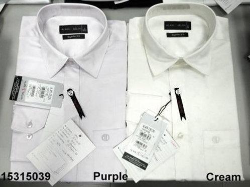 Men shirt -Purple-Cream