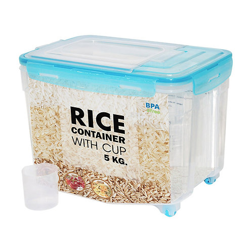 Rice Container (5KG)  w/wheel
