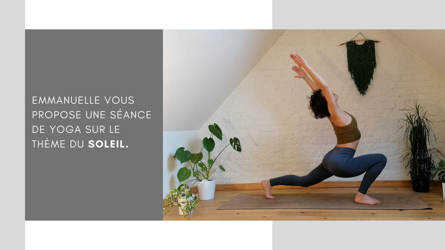 Extrait cours de yoga matinal sur le soleil avec Emmanuelle