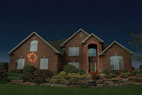 Roofline with Bushes, Trees and Estate Greenery (5ft Wreath) Package