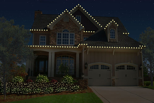 Roofline with Bushes Package