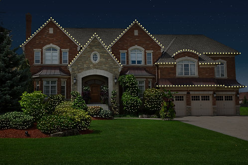 Roofline with Bushes and Trees Package
