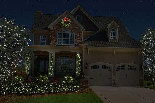 Mini Lights with Greenery