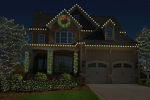 Roofline with Bushes, Trees and Greenery (5ft Wreath) Package