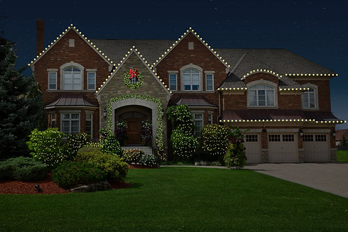 Roofline with Bushes and Greenery Package