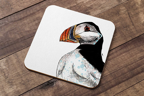 Atlantic puffin table coaster made in the UK