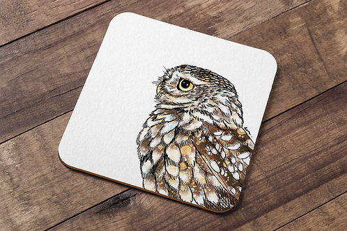 Little owl table coaster made in the UK