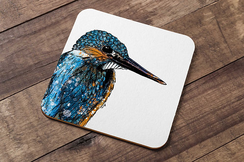 Kingfisher table coaster made in the UK